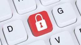 Computer Sicherheit im Internet Schloss Symbol